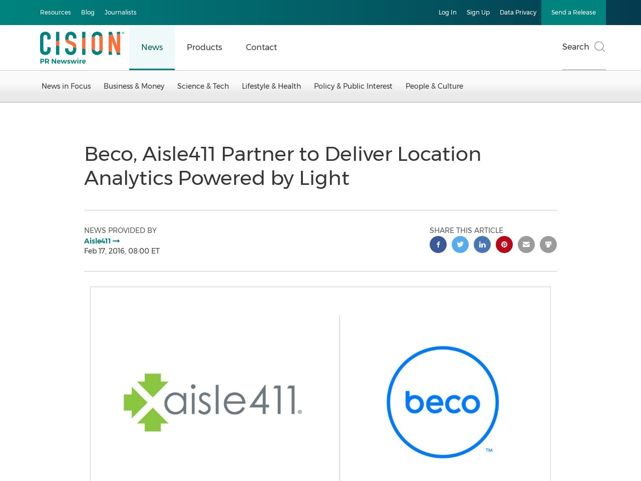 Beco, Aisle411 Partner to Deliver Location Analytics Powered by Light