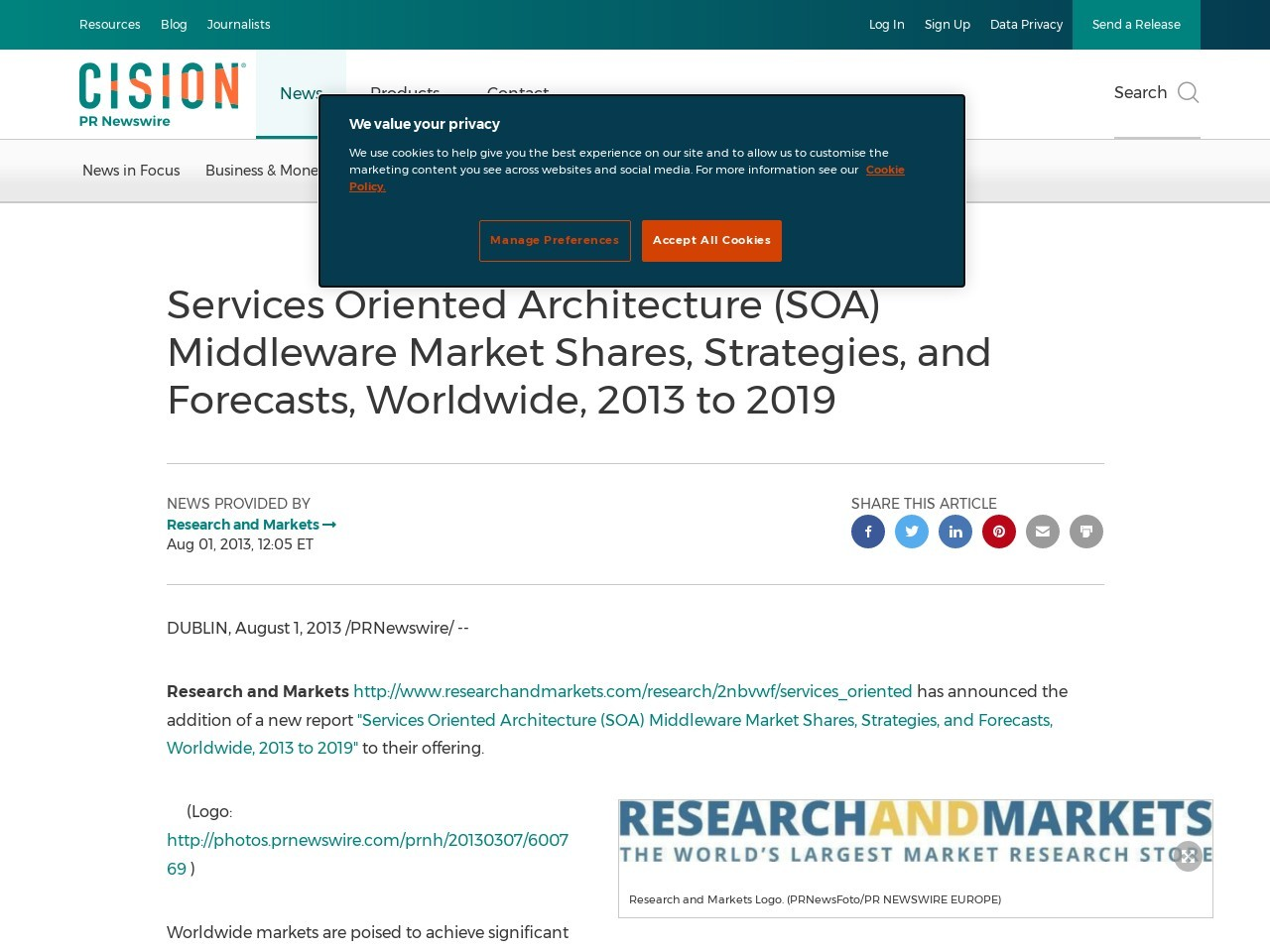 Services Oriented Architecture (SOA) Middleware Market Shares, Strategies …