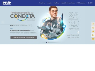 Captura de pantalla para probarranquilla.org