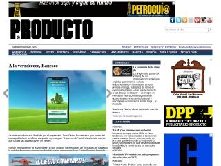Captura de pantalla para producto.com.ve