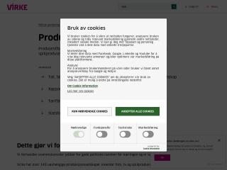 Screenshot for produsentforeningen.no