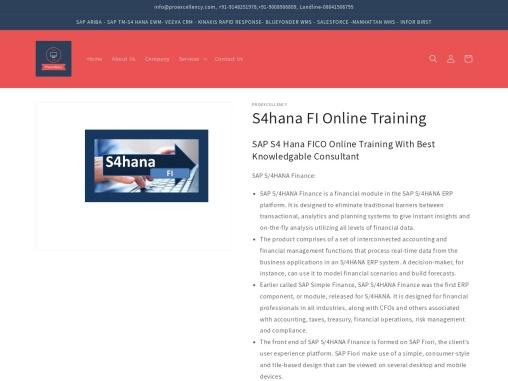 Simple Finance SAP E-training by Proexcellency