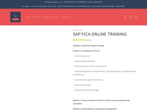 Proexcellency Provides SAP FICA Online Training