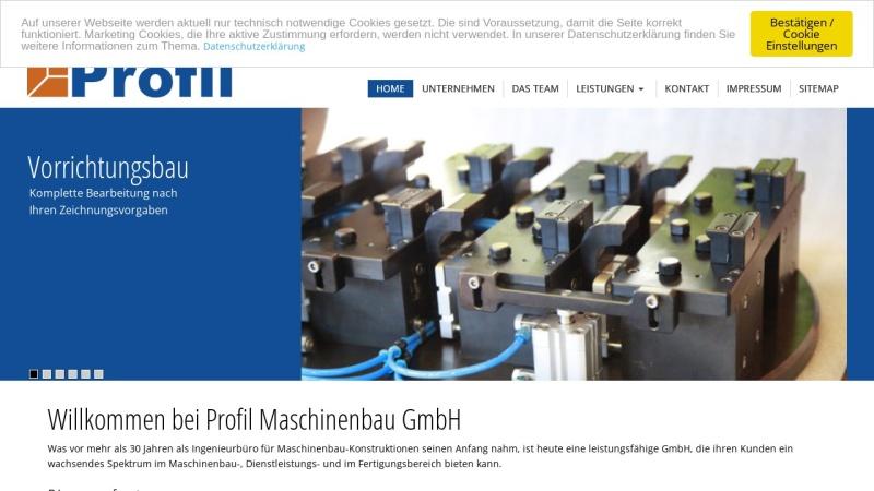 www.profil-maschinenbau.de Vorschau, Profil Maschinenbau Konstruktions GmbH