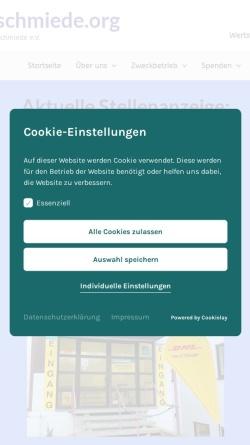 Vorschau der mobilen Webseite www.projektschmiede.org, Rothenburger Projektschmiede e. V.