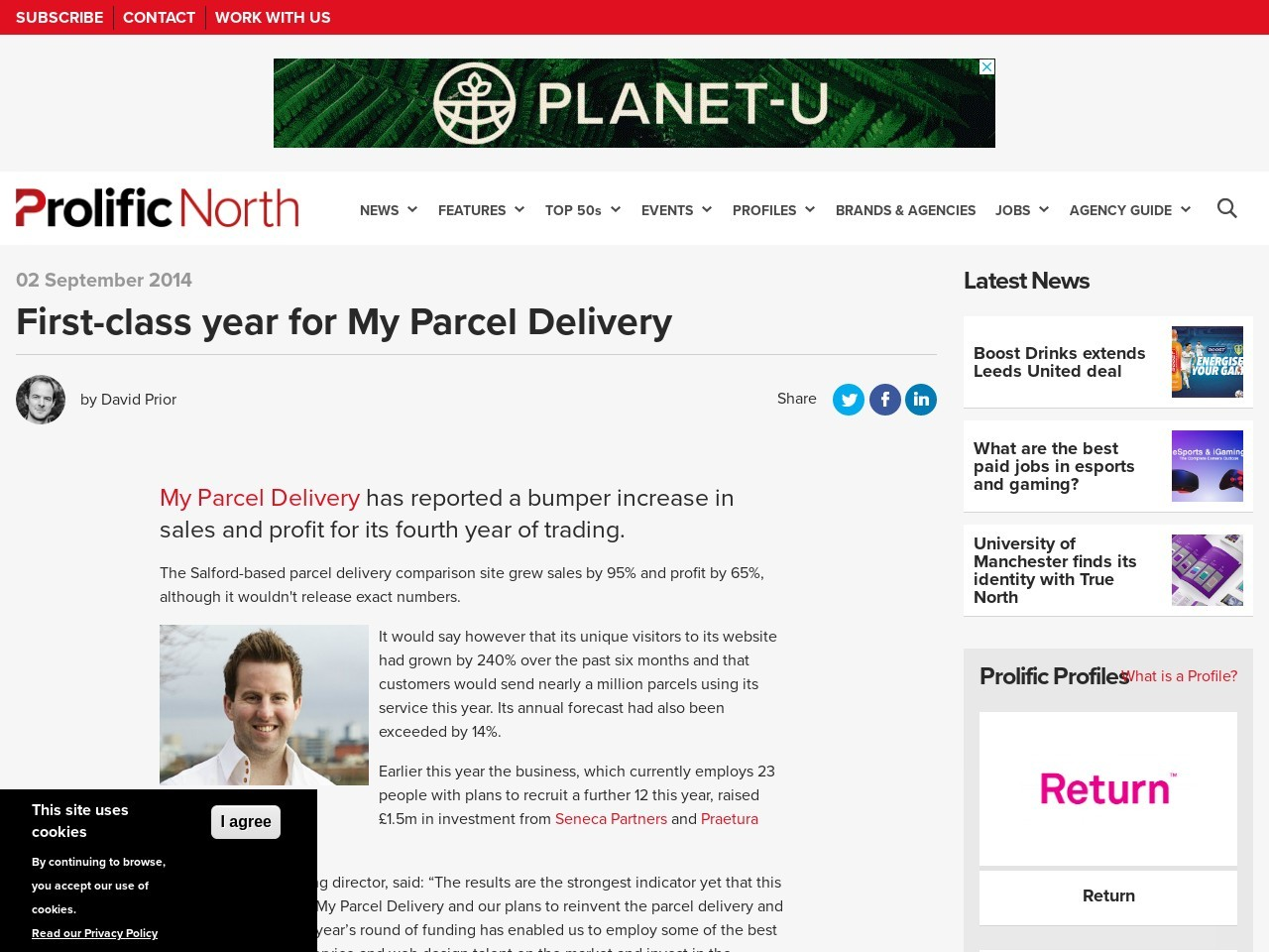 First-class year for My Parcel Delivery