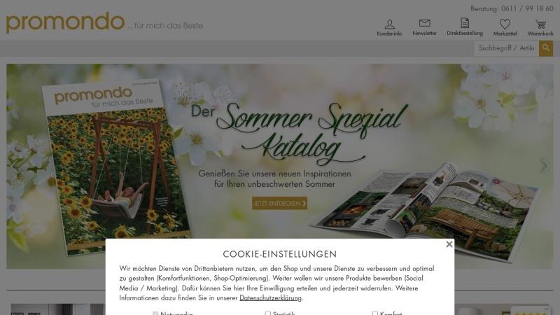 www.promondo.de Vorschau, Promondo Verlag & Versand GmbH