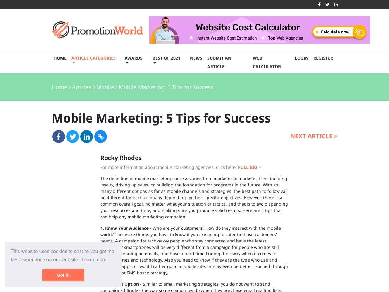 Mobile Marketing: 5 Tips for Success