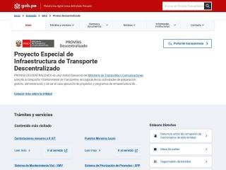 Captura de pantalla para proviasdes.gob.pe