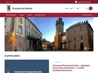 screenshot provincia.arezzo.it