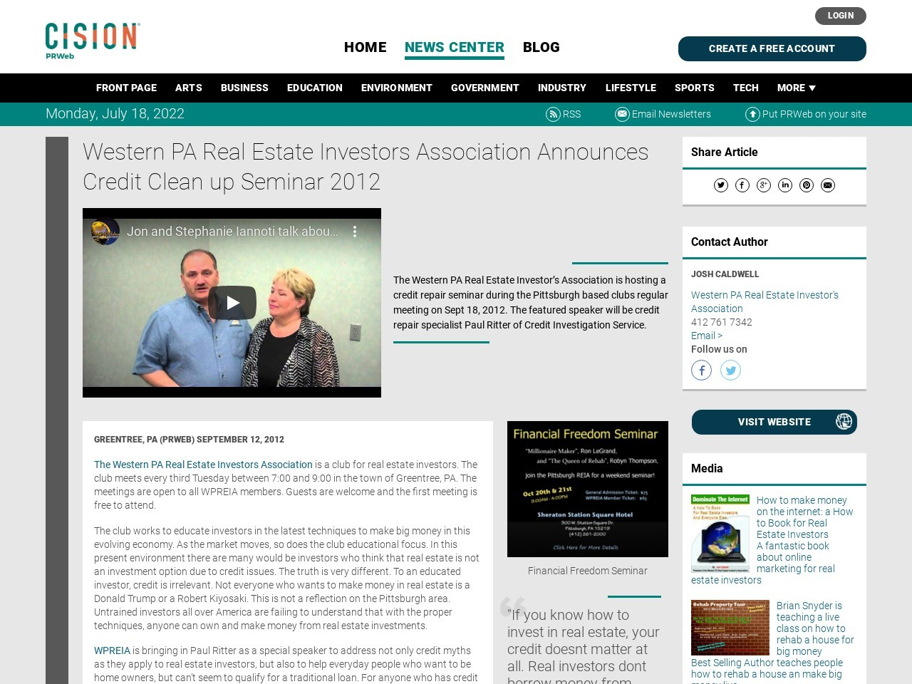 Western PA Real Estate Investors Association Announces Credit Clean up …