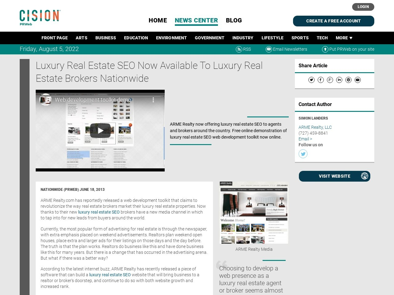 Luxury Real Estate SEO Now Available To Luxury Real Estate Brokers Nationwide