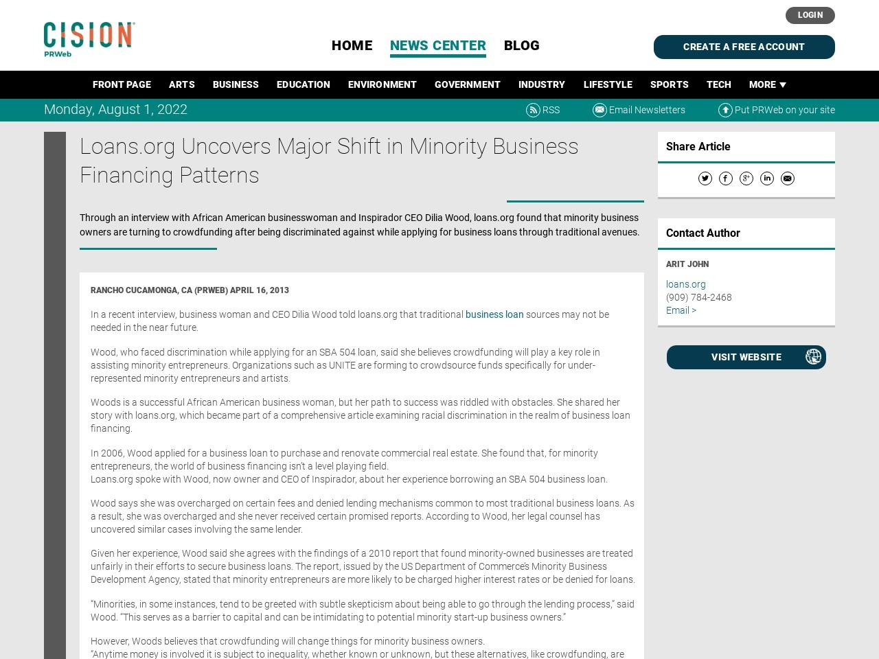Loans.org Uncovers Major Shift in Minority Business Financing Patterns