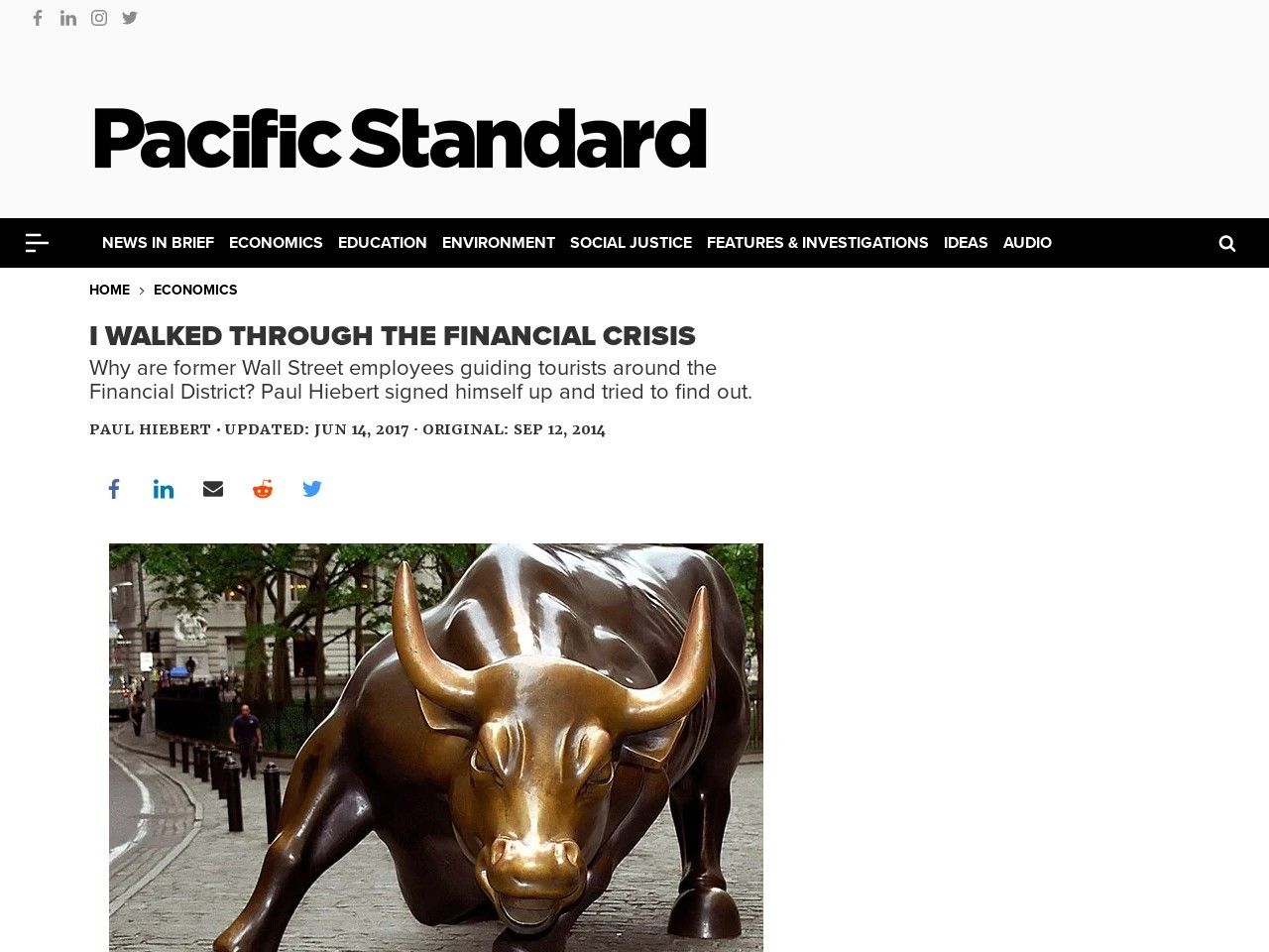I Walked Through the Financial Crisis – Pacific Standard