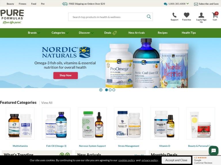 PureFormulas.com-Health Supplements & Vitamins screenshot