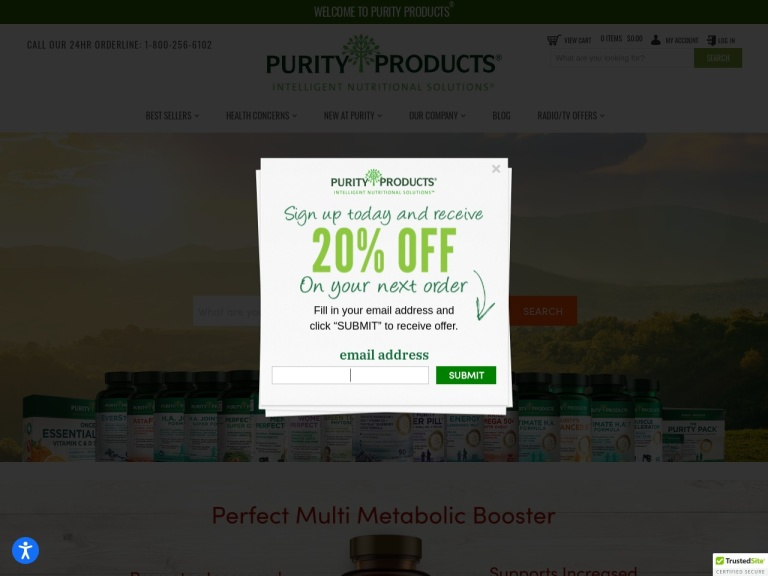 Purity Products screenshot