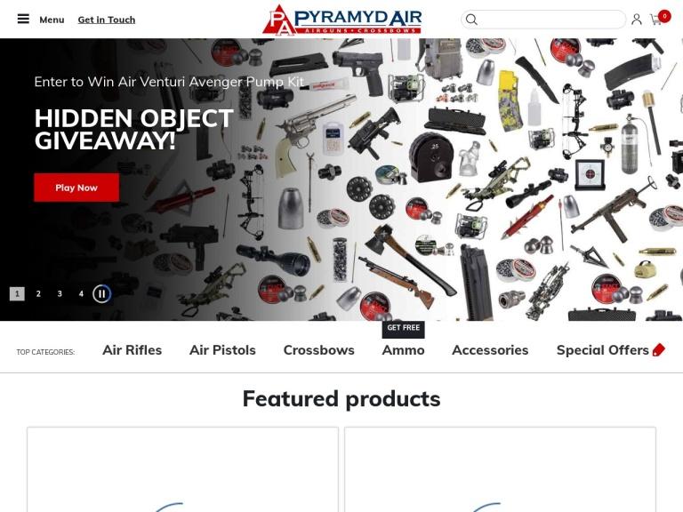 Pyramyd Air screenshot