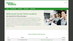 www.python-academy.de Vorschau, Python Academy UG (haftungsbeschränkt) & Co. KG