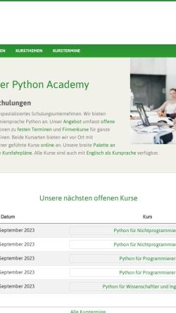 Vorschau der mobilen Webseite www.python-academy.de, Python Academy UG (haftungsbeschränkt) & Co. KG