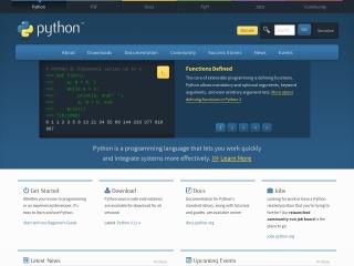 Screenshot for python.org