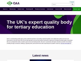 Screenshot for qaa.ac.uk