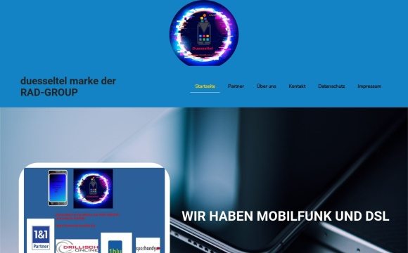 Onlinehandel für Mobilfunk und DSL Neu Vertraäge der RAD-GROUP