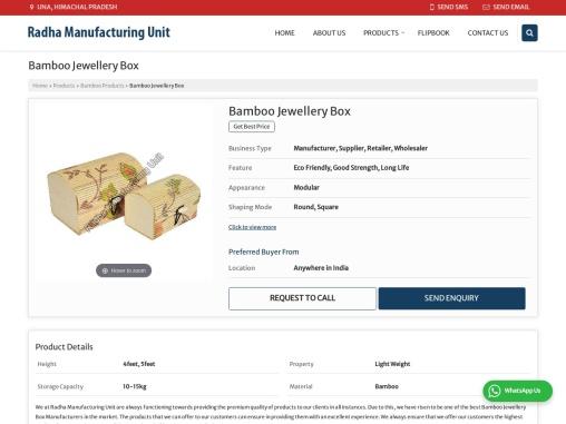 Bamboo Jewellery Box Manufacturers