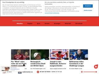 Screenshot der Website radiocentral.ch