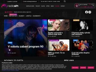 Screenshot stránky radiosity.sk