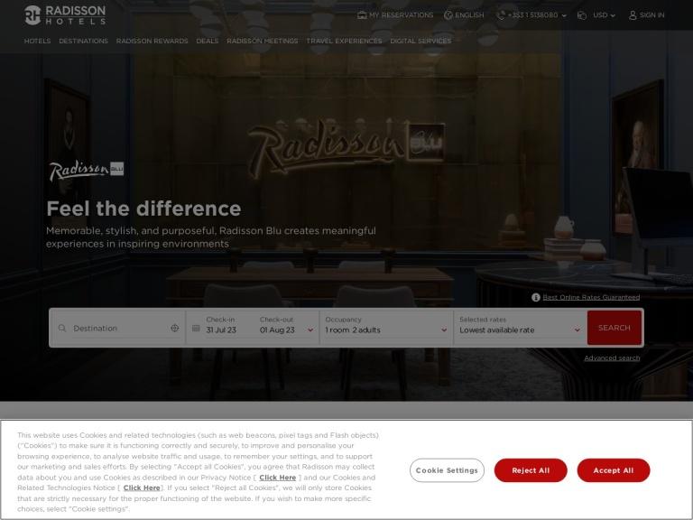 Radisson Blu screenshot