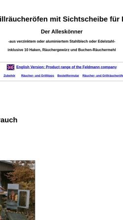 Vorschau der mobilen Webseite www.raeucheroefen.de, Feldmann Räucheröfen