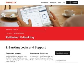Screenshot der Website raiffeisendirect.ch