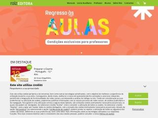Screenshot do site raizeditora.pt