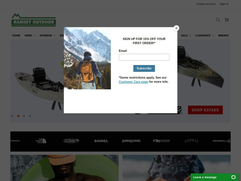 RamseyOutdoor.com screenshot