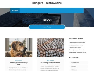 Zrzut ekranu strony rangerspoland.com.pl