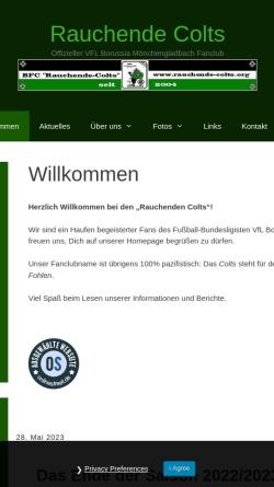 Vorschau der mobilen Webseite www.rauchende-colts.org, Fanclub Rauchende Colts