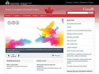 Screenshot for rcmp-grc.gc.ca