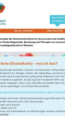 Vorschau der mobilen Webseite www.rechenschwaeche-bremen.de, Zentrum zur Therapie der Rechenschwäche Bremen und Oldenburg