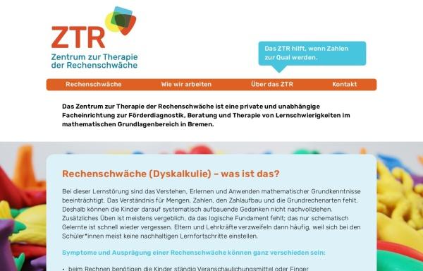 Vorschau von www.rechenschwaeche-bremen.de, Zentrum zur Therapie der Rechenschwäche Bremen und Oldenburg