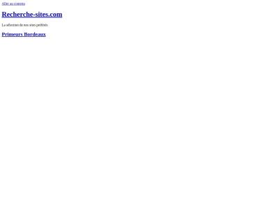 Recherche-sites.com : Annuaire généraliste