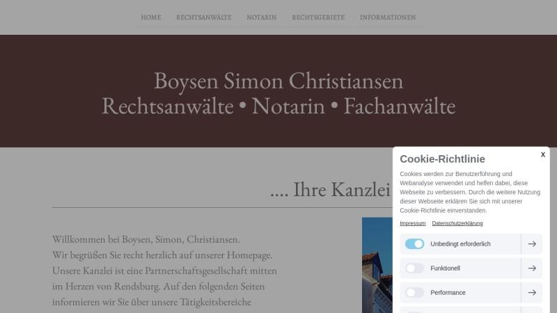 www.rechtsanwaeltin-simon.de Vorschau, Simon Cornelia