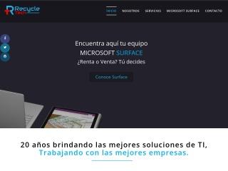 Captura de pantalla para recycletech.com.mx