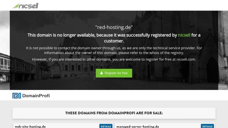 www.red-hosting.de Vorschau, Red-Hosting