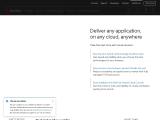 Screenshot for redhat.com