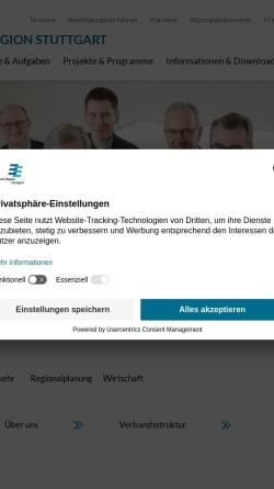 Vorschau der mobilen Webseite www.region-stuttgart.org, Verband Region Stuttgart