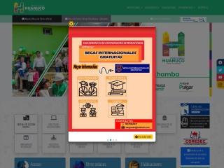 Captura de pantalla para regionhuanuco.gob.pe