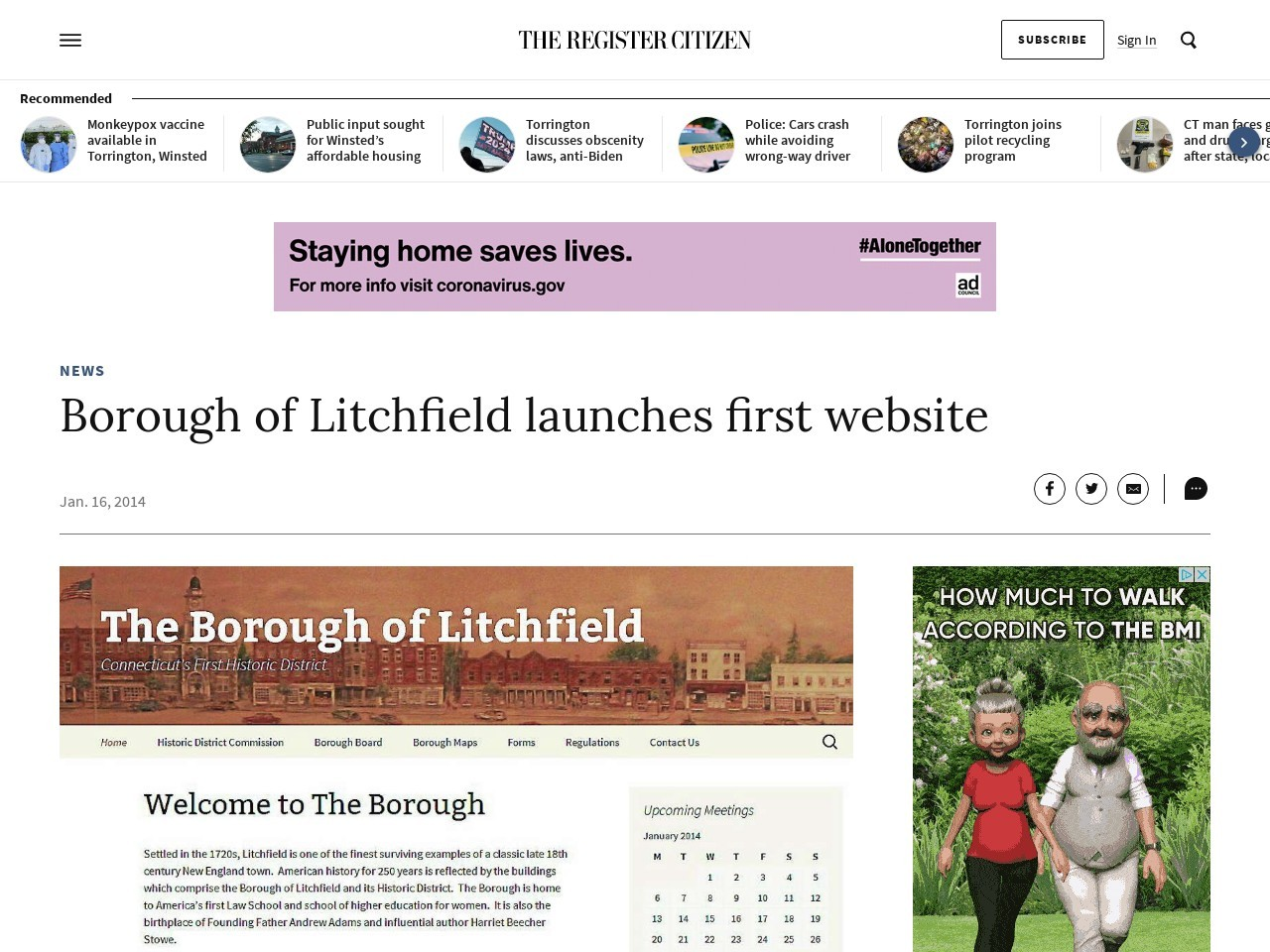 Borough of Litchfield launches first website
