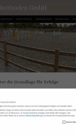 Vorschau der mobilen Webseite www.reitboden.com, Hopster Reitboden GmbH