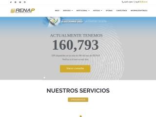 Captura de pantalla para renap.gob.gt