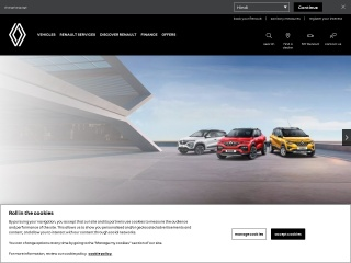 Screenshot for renault.co.in